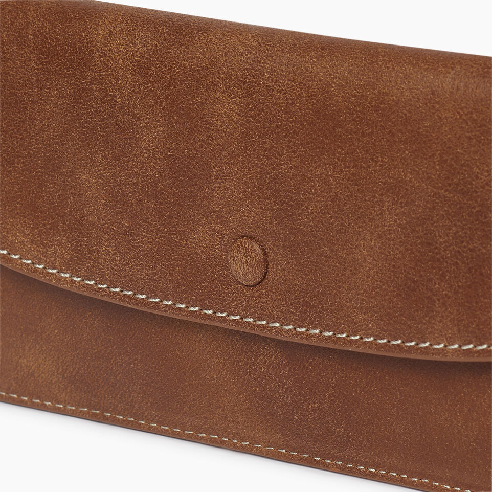 Roots-Women Clothing-Riverdale Slim Wallet-Natural-C