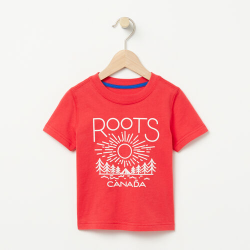 Roots-Kids T-shirts-Toddler Sunrise T-shirt-Poinsettia-A