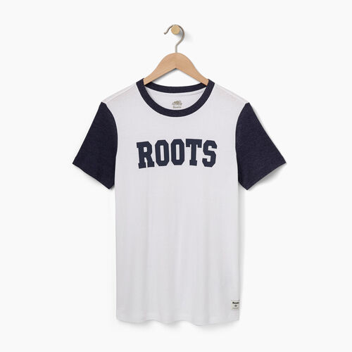 Roots-Sale Women-Womens Dawson T-shirt-Blue Iris-A