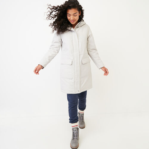 Roots-Women Outerwear-Roots Sustainable Parka-Cloud Grey-A