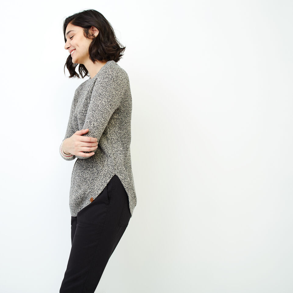 Roots-Women Our Favourite New Arrivals-Roots Cotton Cabin Waffle Crew-Grey Oat Mix-C