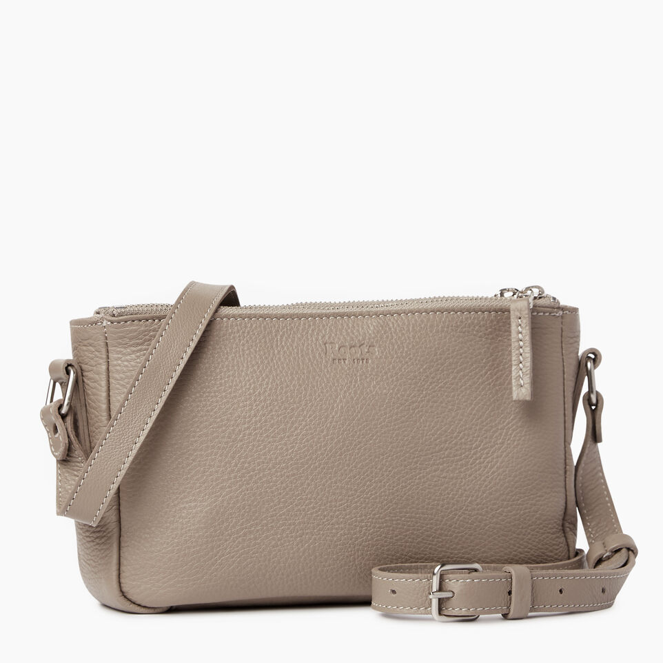 Roots-Leather Our Favourite New Arrivals-Main Street Crossbody-Flint Grey-C
