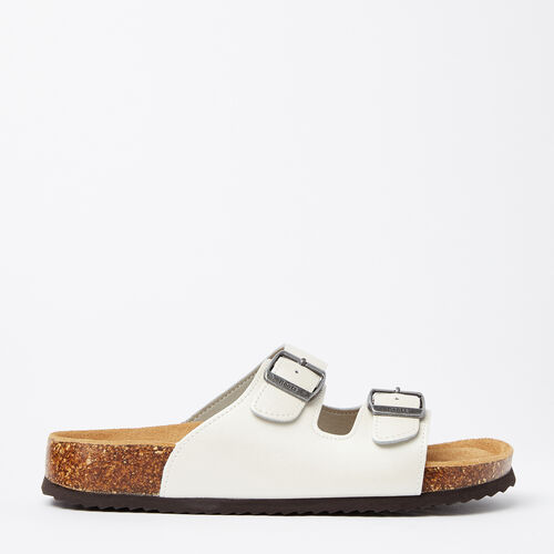 Roots-Women Sandals-Womens Natural 2 Strap Sandal-White-A
