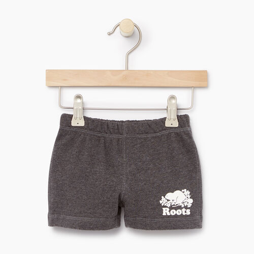 Roots-Kids Categories-Baby Original Short-Charcoal Mix-A