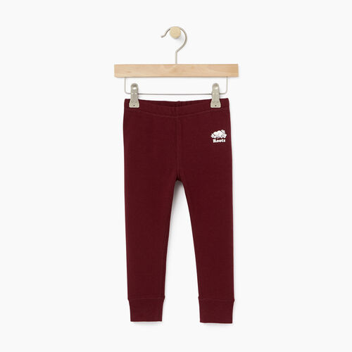 Roots-Kids Bottoms-Toddler Cozy Fleece Legging-Northern Red-A