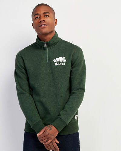 Roots-Men Sweatshirts & Hoodies-Original Zip Stein-Camp Green Pepper-A