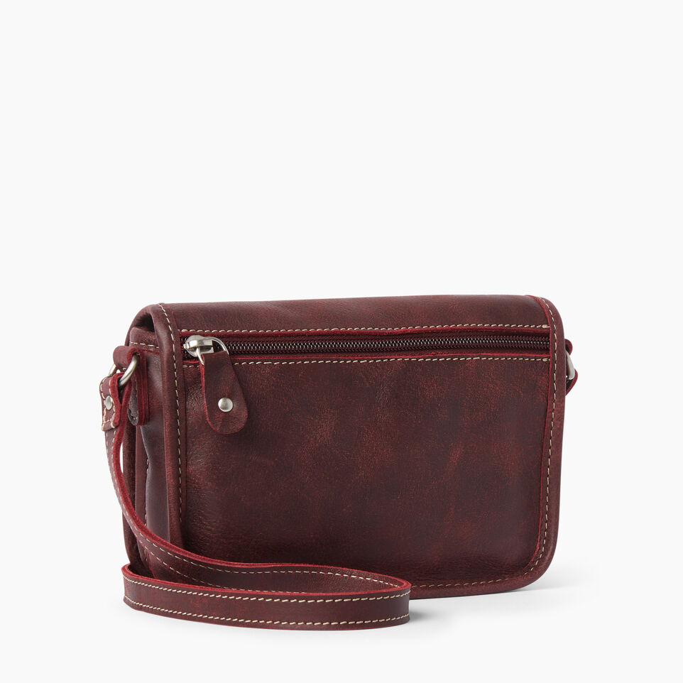 Roots-Clearance Leather-Angelina Bag Tribe-Crimson-C