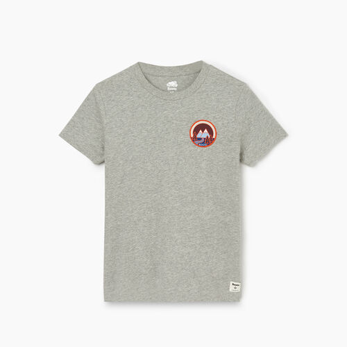 Roots-Women Graphic T-shirts-Womens Borden T-shirt-Grey Mix-A