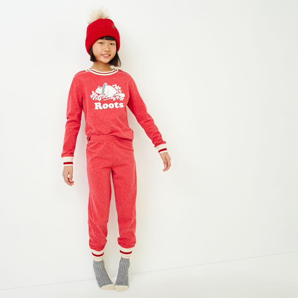 Roots-Kids Our Favourite New Arrivals-Girls Buddy Pj Set-Cabin Red Pepper-A