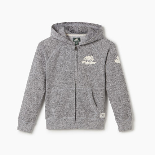 Roots-New For May City Collection-Boys Whistler Ski City Full Zip Hoody-Salt & Pepper-A