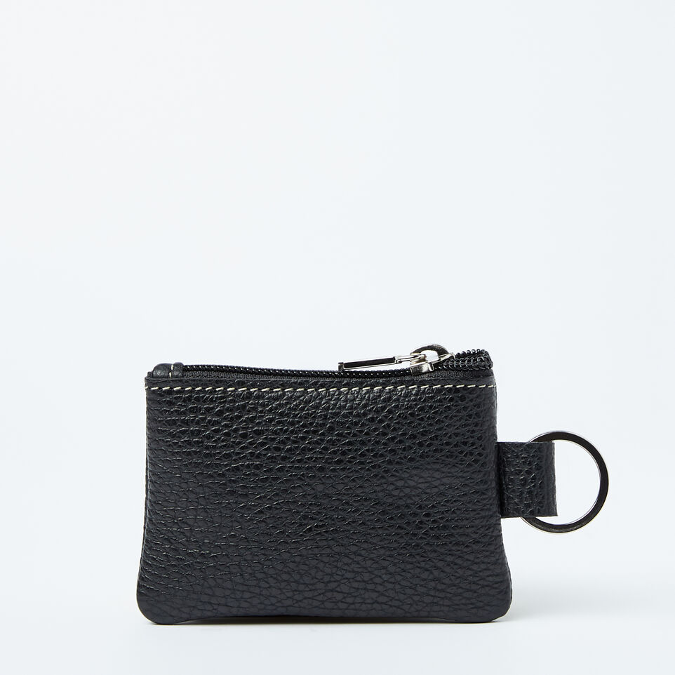 Roots-Top Zip Key Pouch Prince