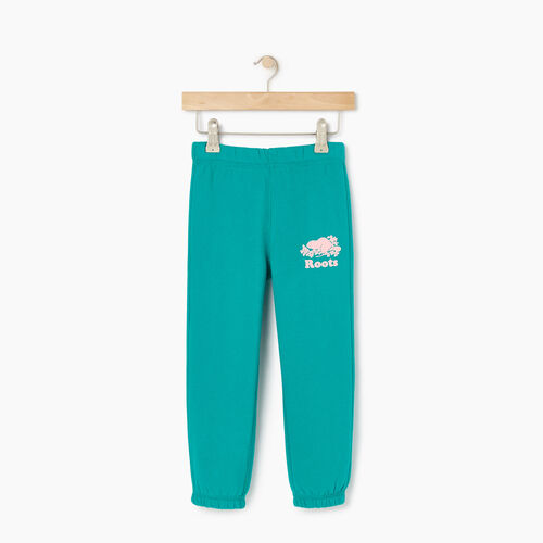 Roots-Kids Bottoms-Toddler Original Roots Sweatpant-Dynasty Turquoise-A