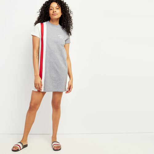 Roots-Sweats Women-Cabin Summer Dress-Light Salt & Pepper-A
