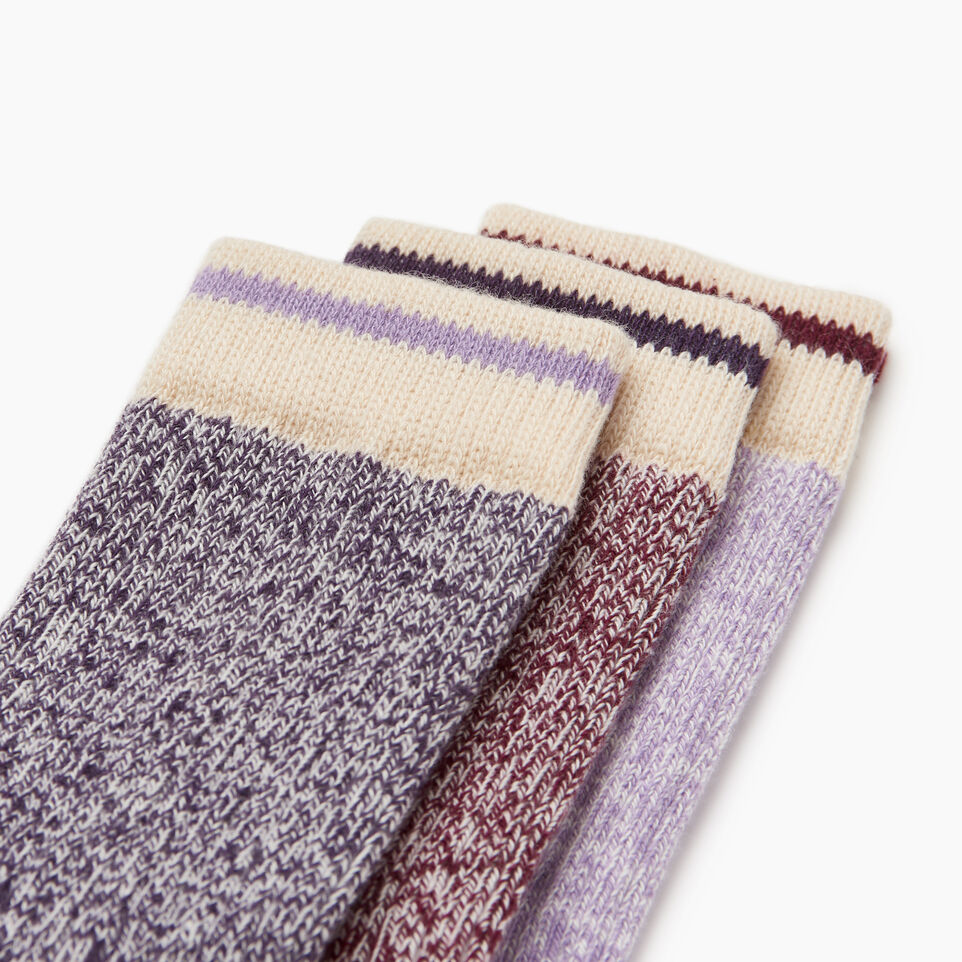 Roots-Kids Our Favourite New Arrivals-Toddler Cabin Sock 3 pack-Purple-C