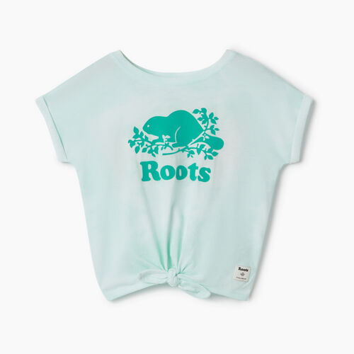 Roots-Kids T-shirts-Toddler Tie T-shirt-Bleached Aqua-A