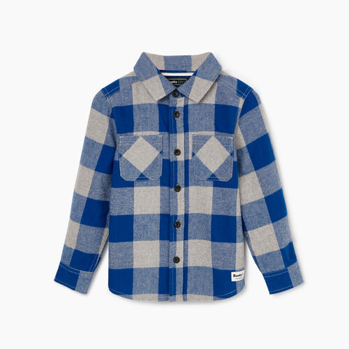 Roots-Kids Tops-Toddler Park Plaid Shirt-Active Blue-A
