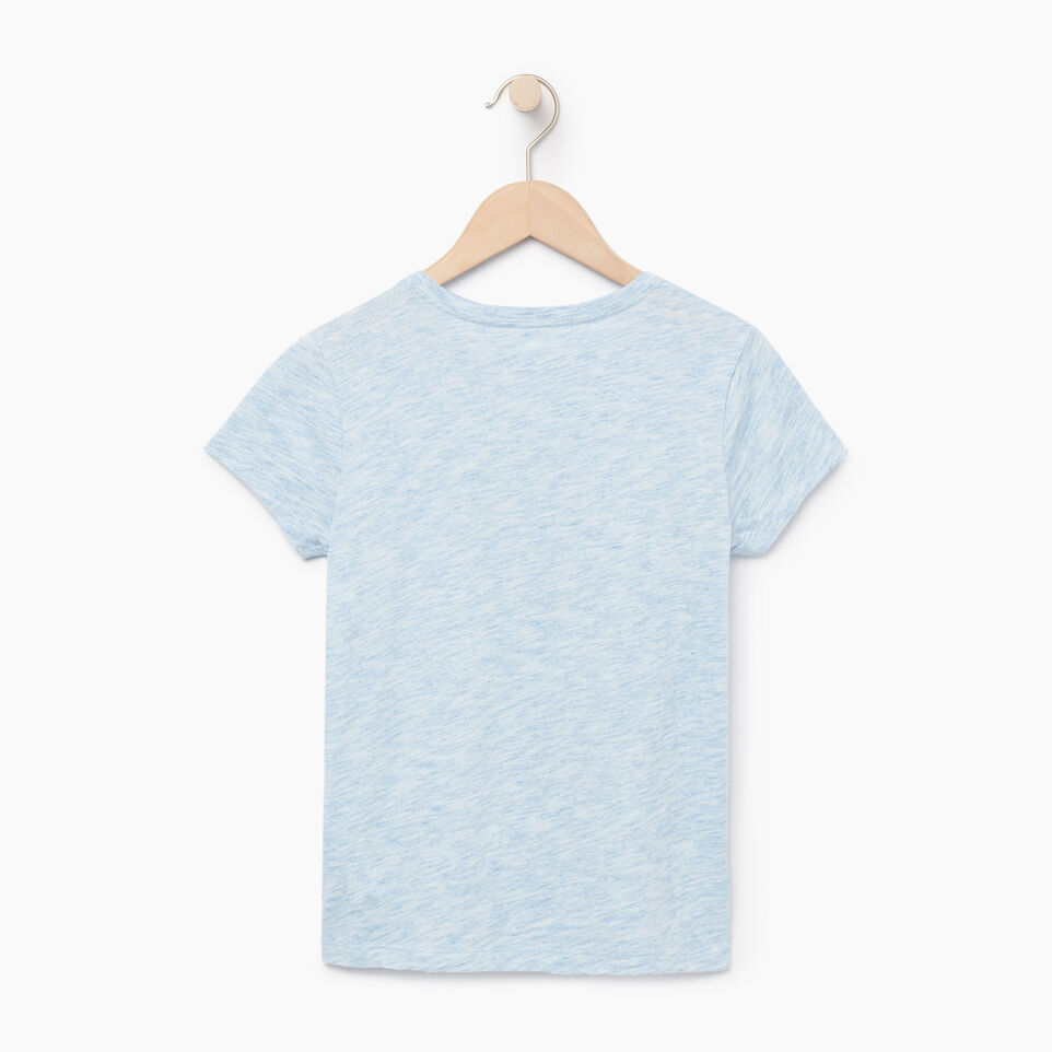 Roots-Kids Our Favourite New Arrivals-Girls Roots Space Dye T-shirt-Blue Bonnet-B
