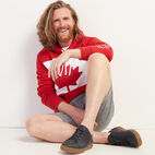 Roots-New For July Men-Blazon Hoody-Sage Red-B