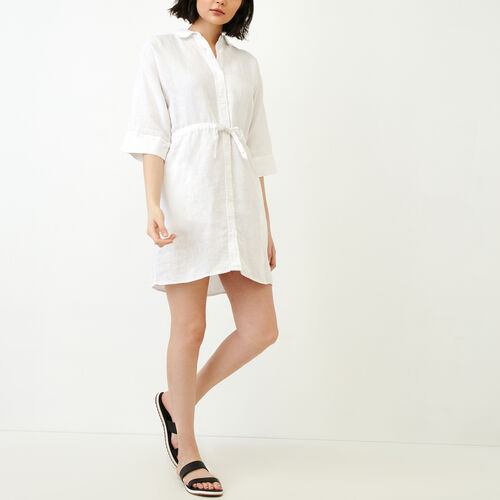 Roots-Women Our Favourite New Arrivals-Weymouth Dress-White-A