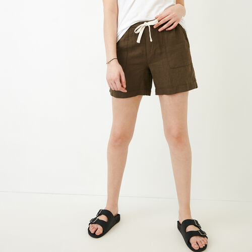 Roots-Women Bottoms-Sadie Short-Fatigue-A
