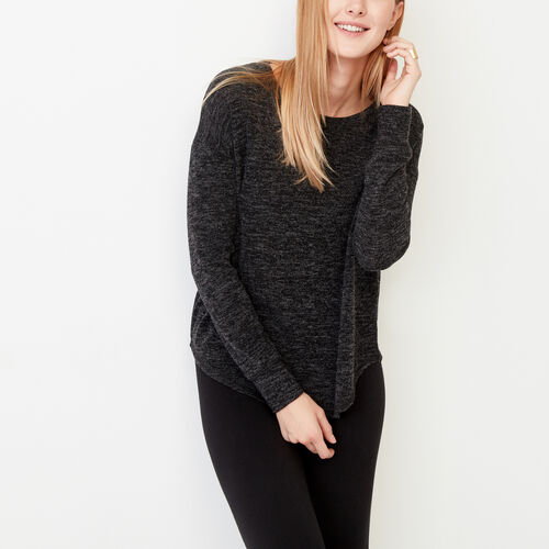 Roots-Women Long Sleeve Tops-Elk Top-Black Mix-A