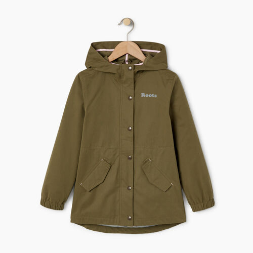 Roots-Kids Categories-Girls Wilderness Jacket-Winter Moss Green-A