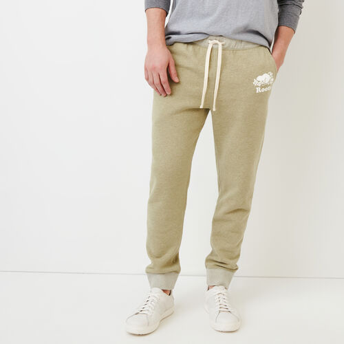 Roots-Men Our Favourite New Arrivals-Cooper Slim Training Pant-Spray Green Mix-A