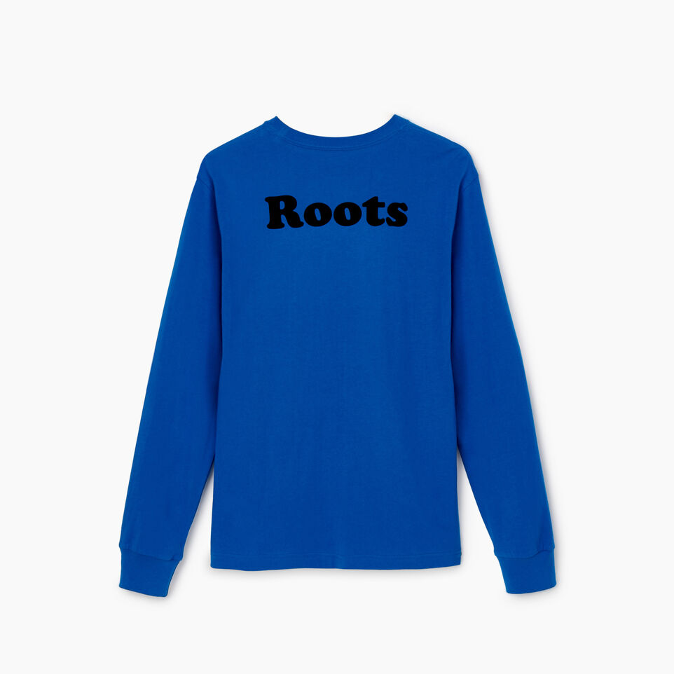 Roots-undefined-Mens Cooper Leaf Long Sleeve T-shirt-undefined-B