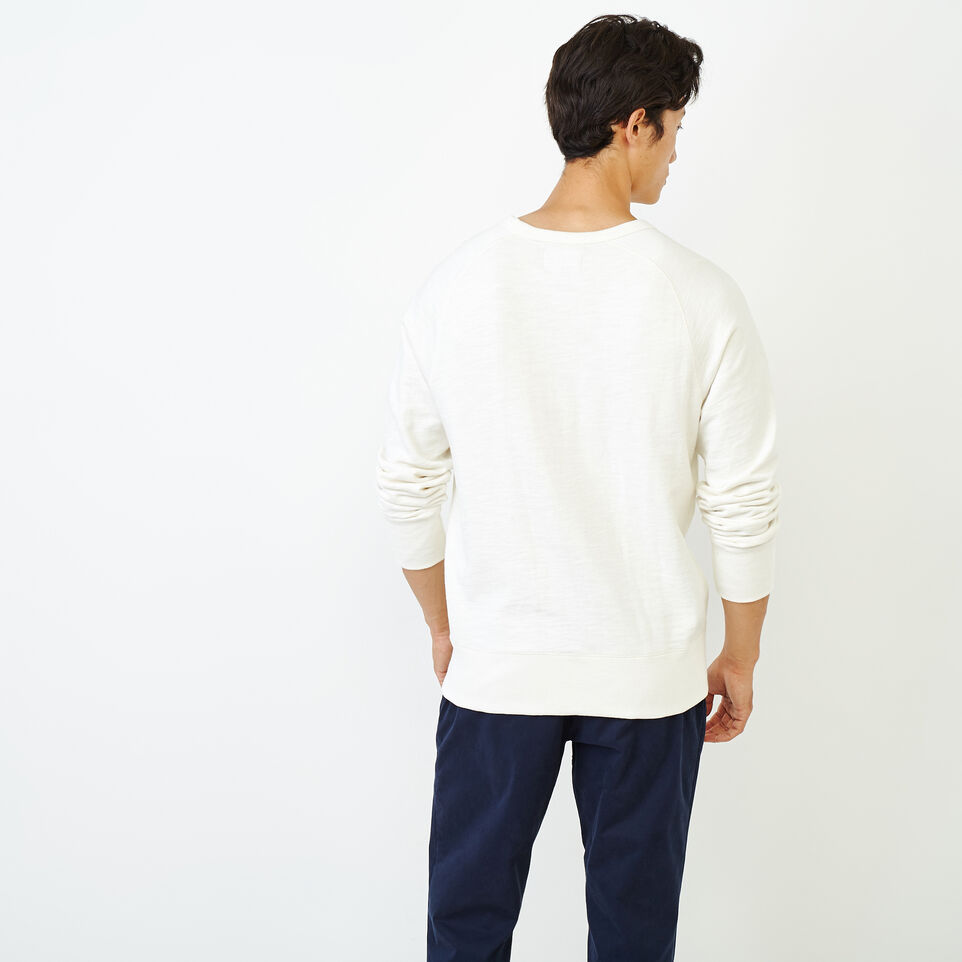 Roots-Men Our Favourite New Arrivals-50s Freedom Sleeve Crew Sweatshirt-Ivory-D
