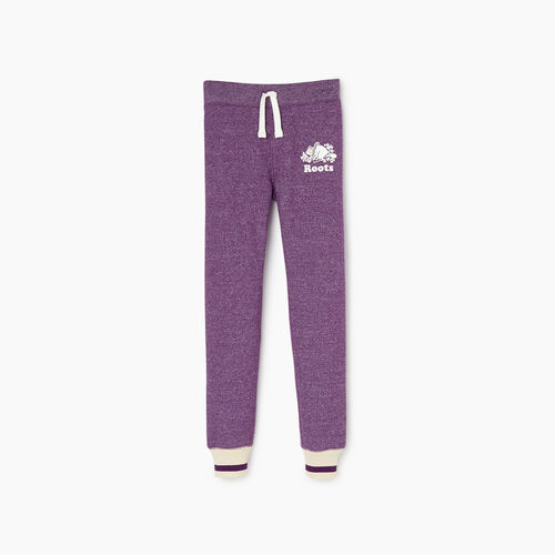 Roots-Kids Girls-Girls Buddy Cozy Fleece Sweatpant-Grape Royale Pepper-A
