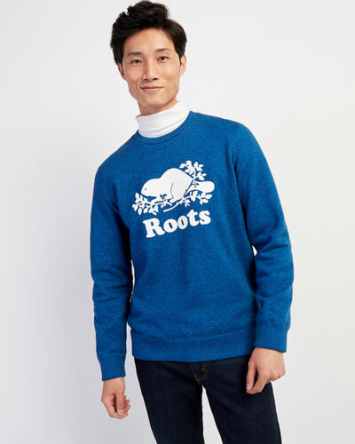 Roots-Men Sweatshirts & Hoodies-Cooper Beaver Crew Sweatshirt-Classic Blue Pepper-A