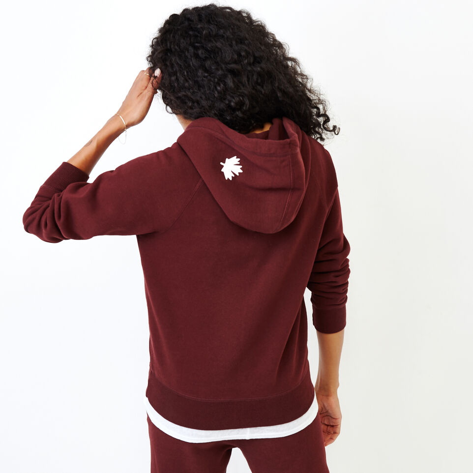 Roots-Women Categories-Original Full Zip Hoody-Crimson-D