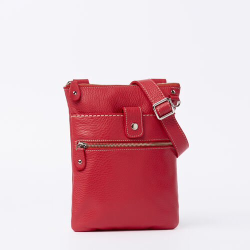 Roots-Women Roots Original Flat Bags-Small Venetian Prince-Red-A