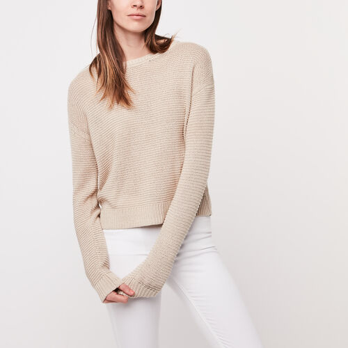 Roots-Sale Over 40% Off-Cascade Pullover Sweater-Natural-A