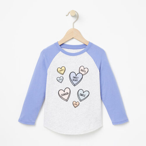 Roots-Sale Toddler-Toddler Watercolour Baseball Top-White Mix-A