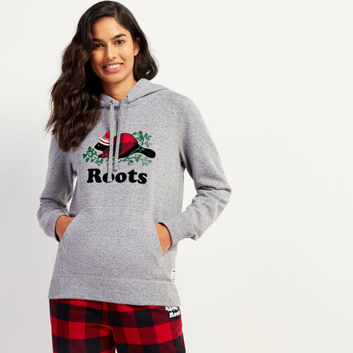 Roots-New For November Online Exclusives-Cozy Buddy Kanga Hoody-Salt & Pepper-A