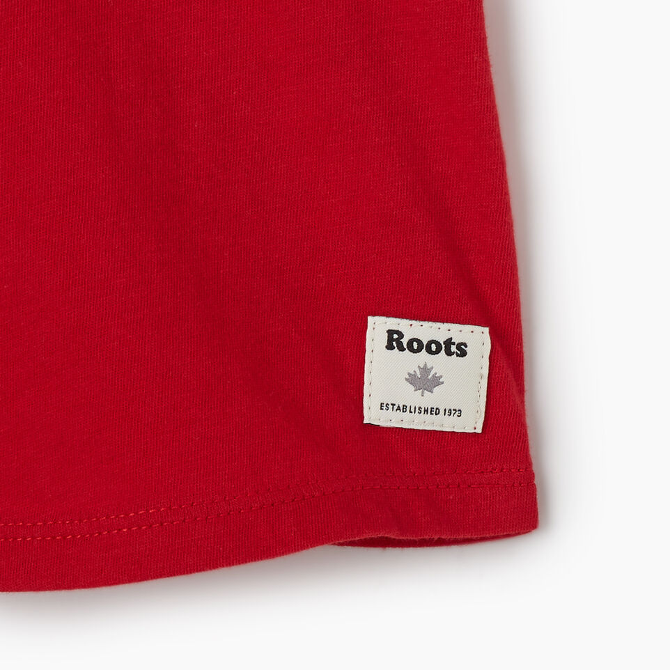 Roots-Kids New Arrivals-Baby Canadian Girl T-shirt-Sage Red-D