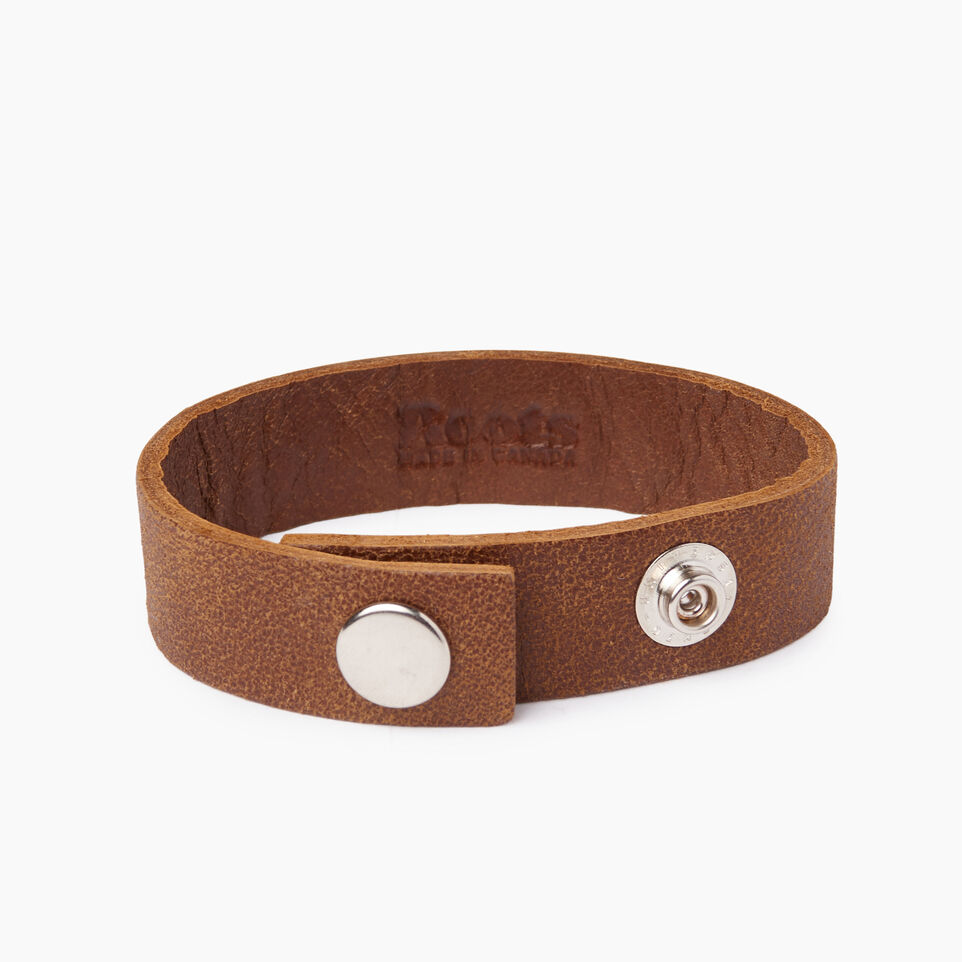 Roots-Leather Our Favourite New Arrivals-I Love Canada Bracelet-Natural-B