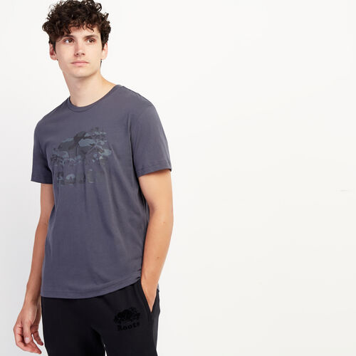 Roots-Sale Tops-Mens Cooper Camo Fill T-shirt-Ink-A