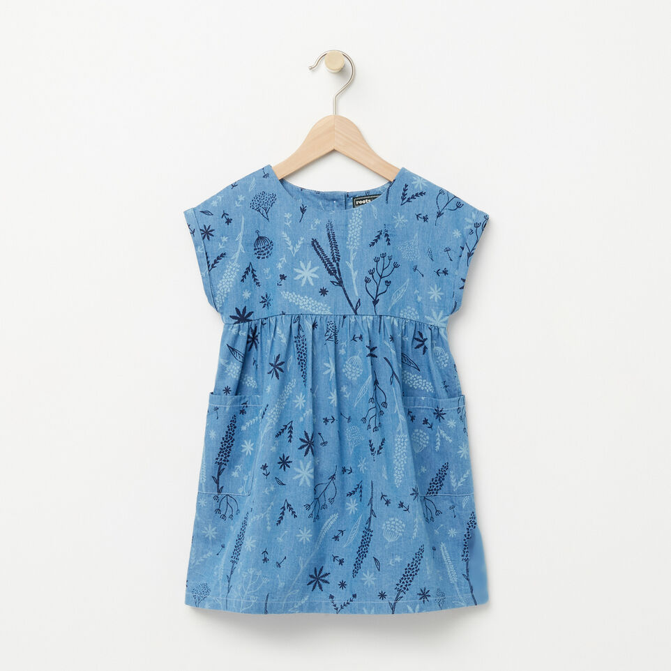 Roots-Toddler Floral Denim Dress