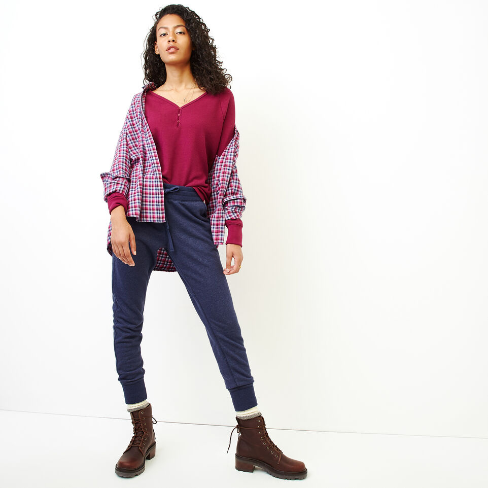 Roots-Women Clothing-Kinuso Henley Top-Purple Potion-B