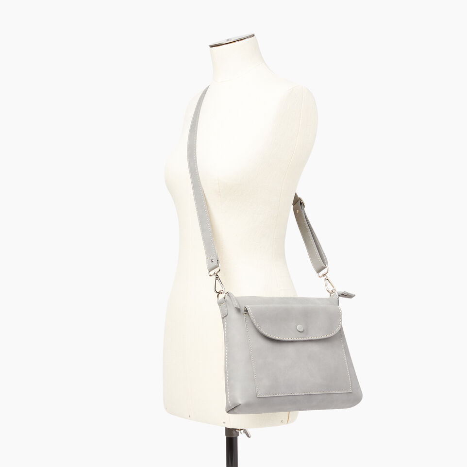 Roots-Leather  Handcrafted By Us Our Favourite New Arrivals-Richmond Crossbody-Quartz-B