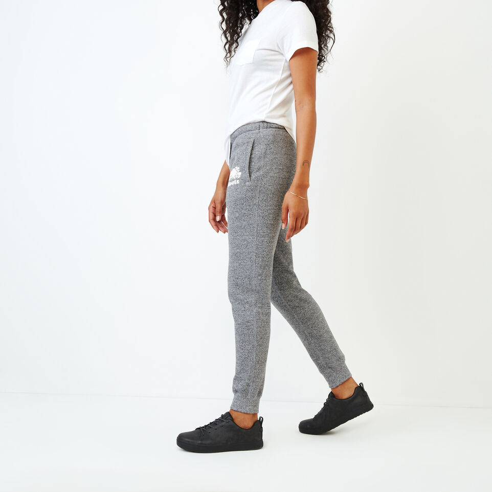 Roots-Women Categories-Slim Cuff Sweatpant - Tall-Salt & Pepper-C