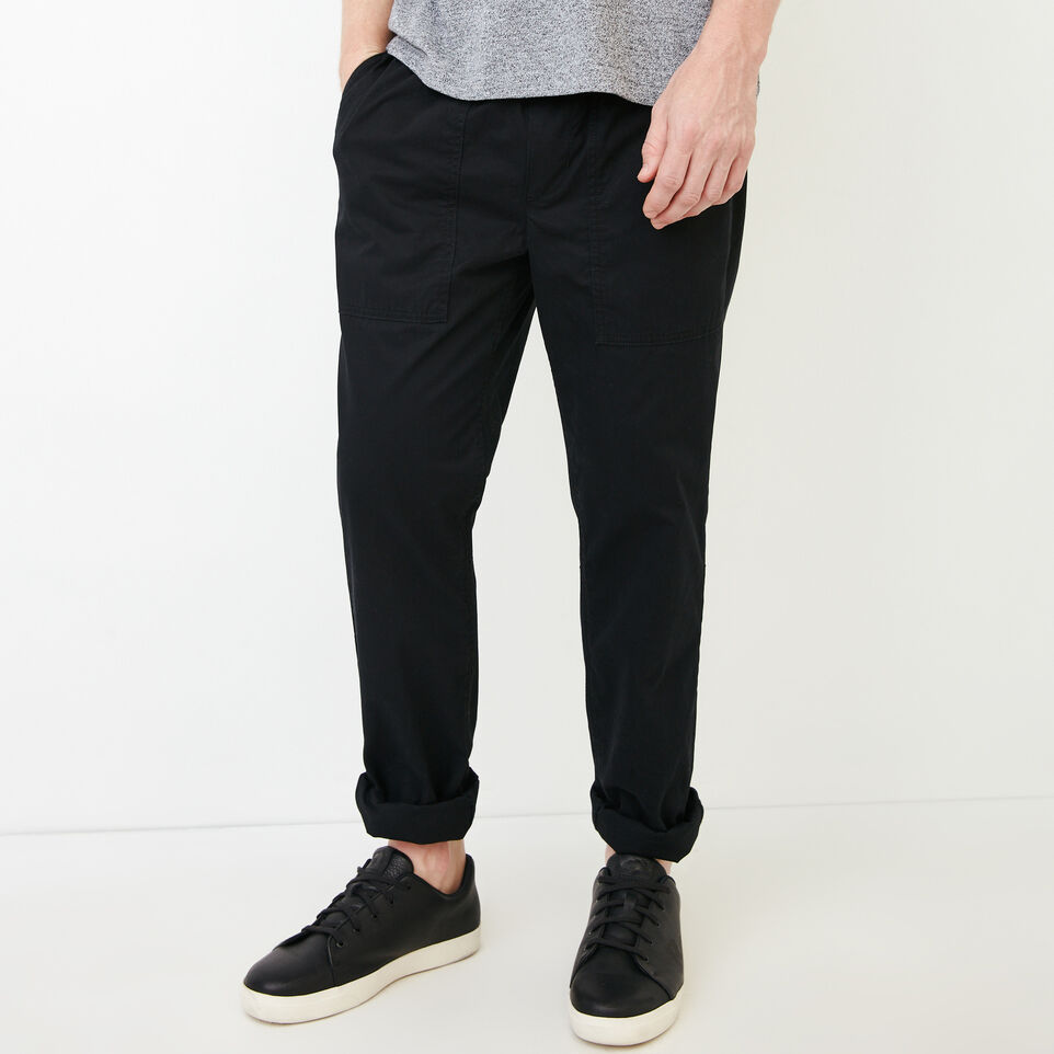 Roots-Men Our Favourite New Arrivals-Easy Utility Pant-Black-A