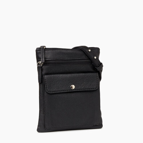 Roots-Leather Crossbody-Liberty Pouch-Black-A