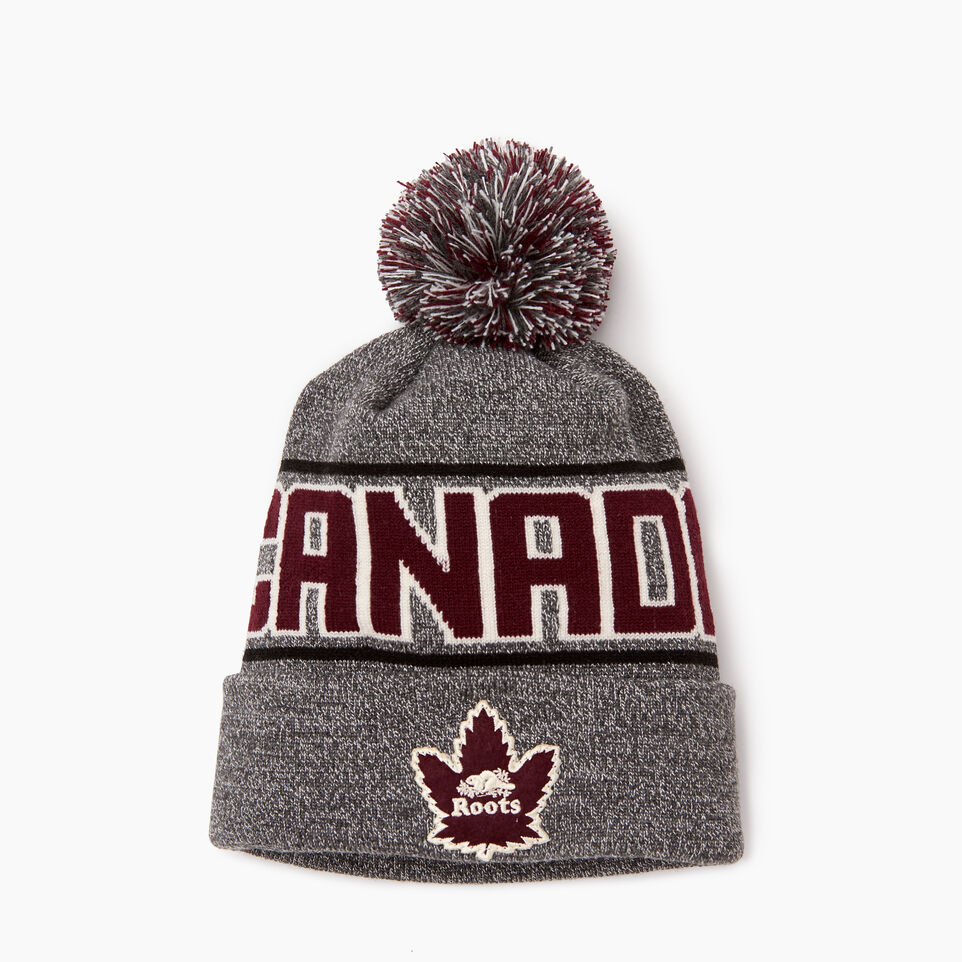Roots-Women Hats-Roots Canada Toque-Salt & Pepper-B