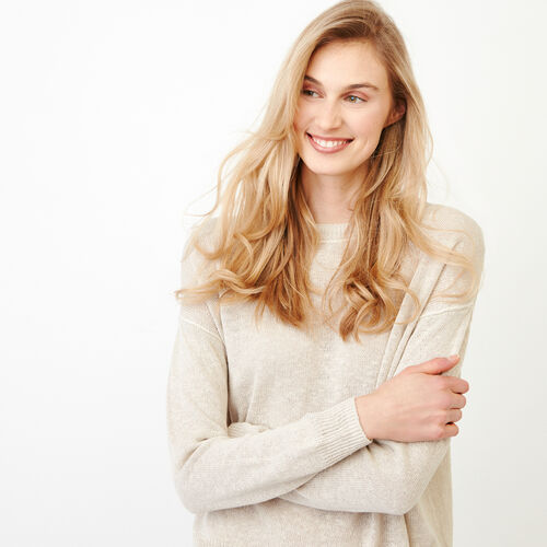 Roots-Women Our Favourite New Arrivals-Tathlina Crew Sweater-Natural-E