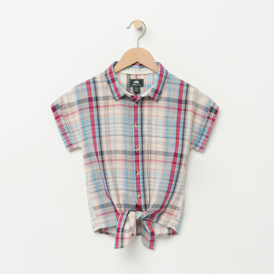 Roots-undefined-Girls Tie Shirt-undefined-A