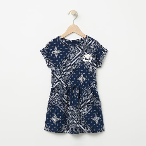 Roots-Kids Tops-Toddler Julie Dress-Cascade Blue-A
