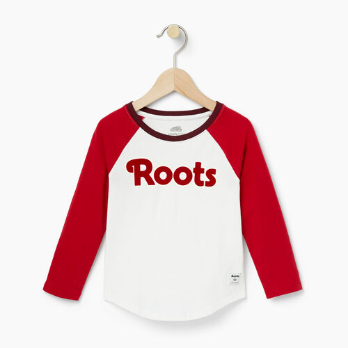 Roots-Clearance Toddler-Toddler Roots Raglan Top-Cabin Red-A